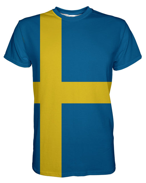 Sweden Flag printed all over in HD on premium fabric. Handmade in California.