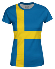 Sweden Flag Women's T-shirt