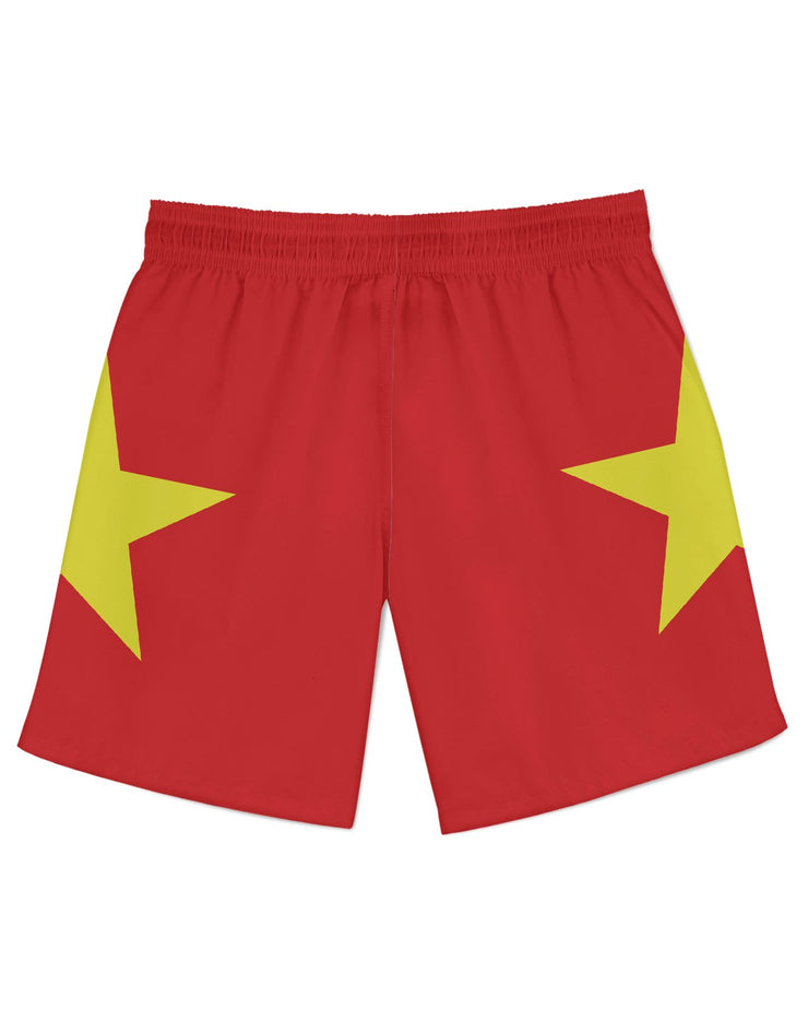 Vietnam Flag Athletic Shorts