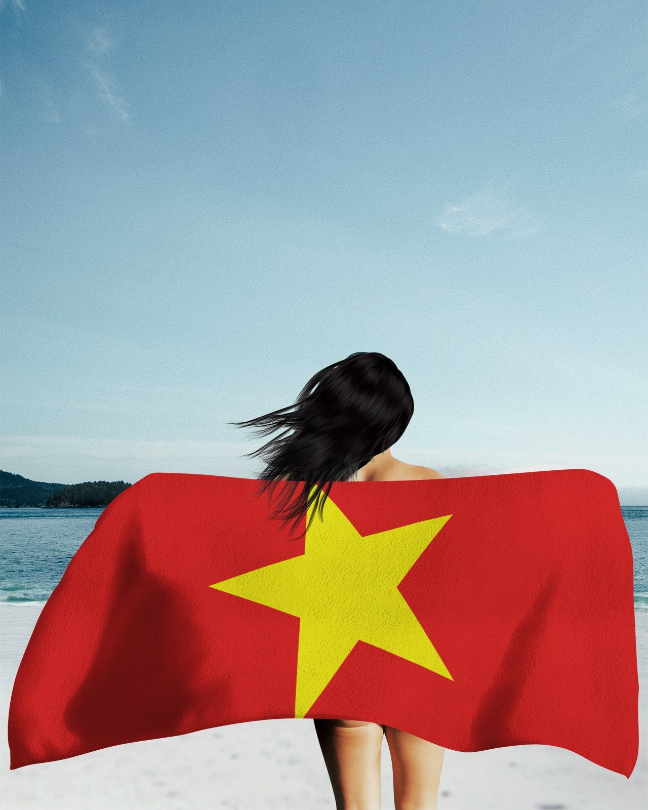 Vietnam Flag Beach Towel