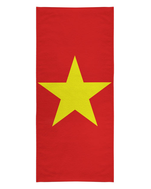 Vietnam Flag printed all over in HD on premium fabric. Handmade in California.