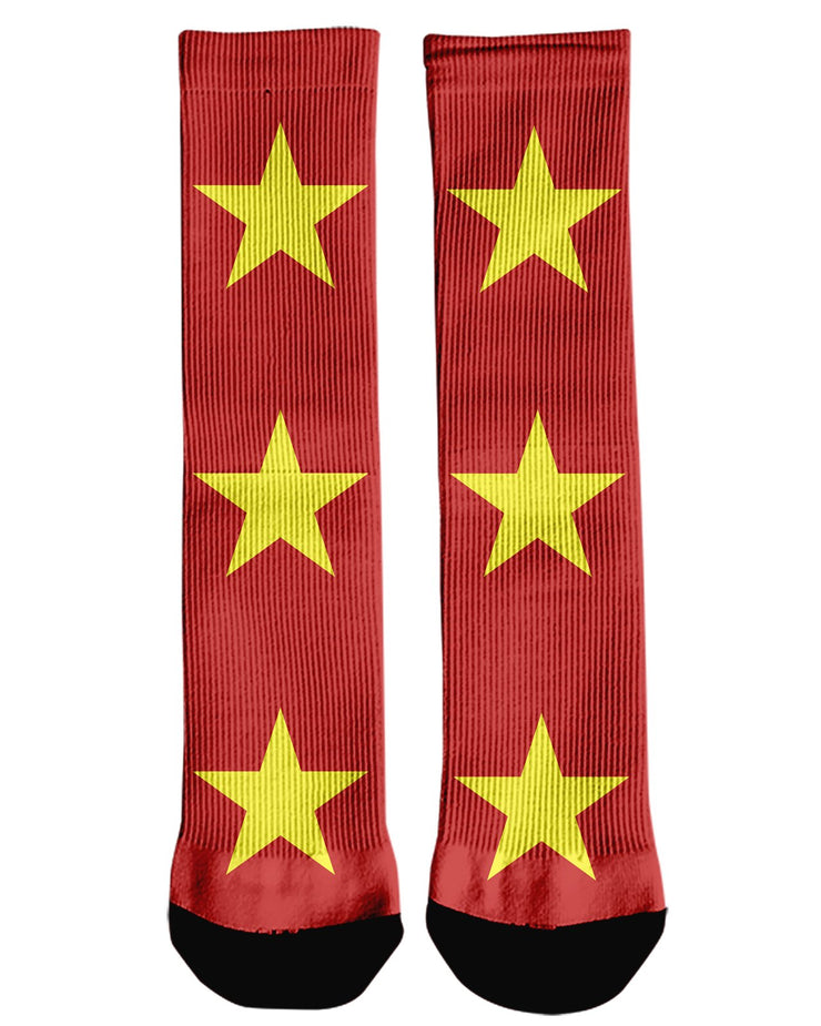 Vietnam Flag Crew Socks