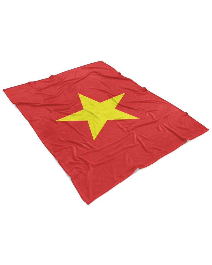 Vietnam Flag Fluffy Micro Fleece Throw Blanket