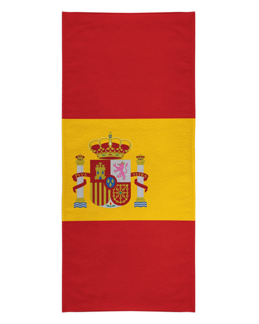Spain Flag printed all over in HD on premium fabric. Handmade in California.