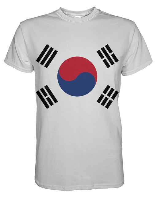 South Korea Flag printed all over in HD on premium fabric. Handmade in California.