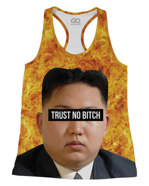 Kim Jong Un Trust no Bitch printed all over in HD on premium fabric. Handmade in California.