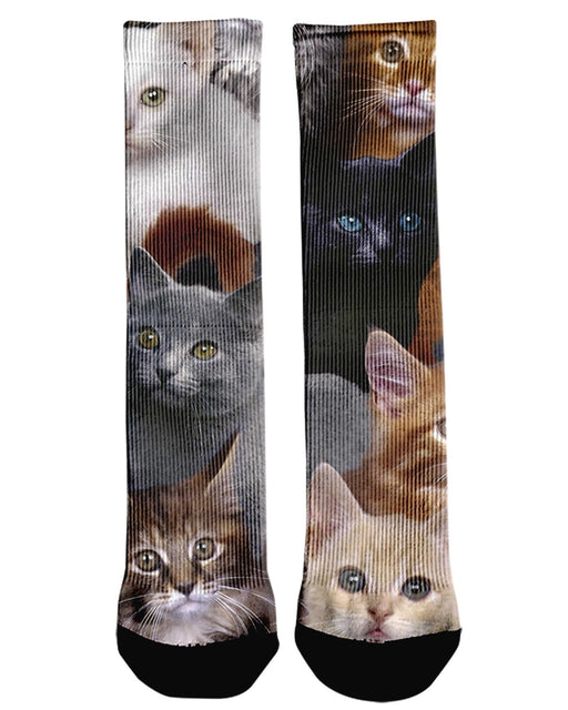 Cat Collage Crew Socks