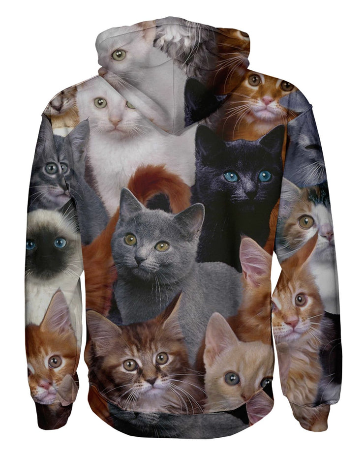 Cat Collage Pullover Hoodie