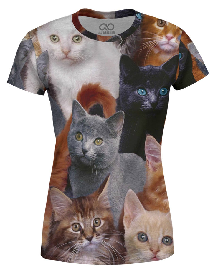 Cat Collage Women's T-shirt