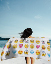 Emoticons Beach Towel