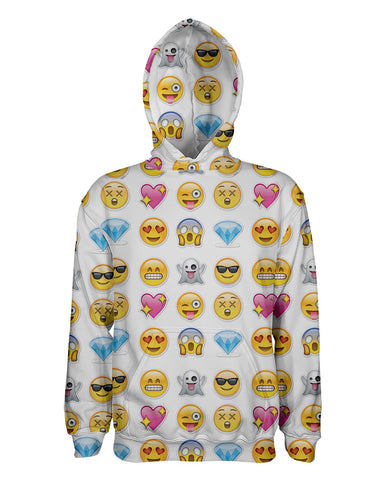 Emoticons printed all over in HD on premium fabric. Handmade in California.