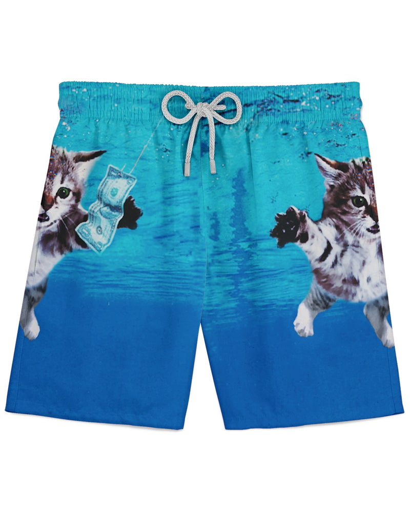 Cat Cobain Athletic Shorts