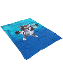 Cat Cobain Fluffy Micro Fleece Throw Blanket