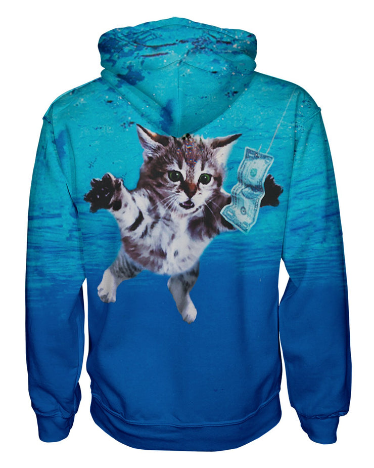 Cat Cobain Pullover Hoodie