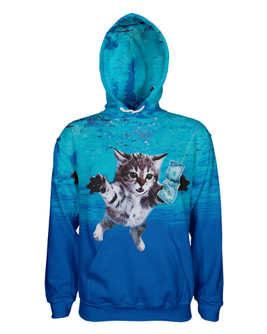 Cat Cobain printed all over in HD on premium fabric. Handmade in California.