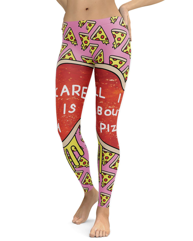 All I Care About Is Pizza Leggings