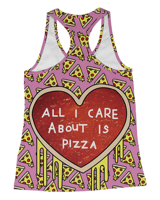All I Care About Is Pizza Racerback-Tank