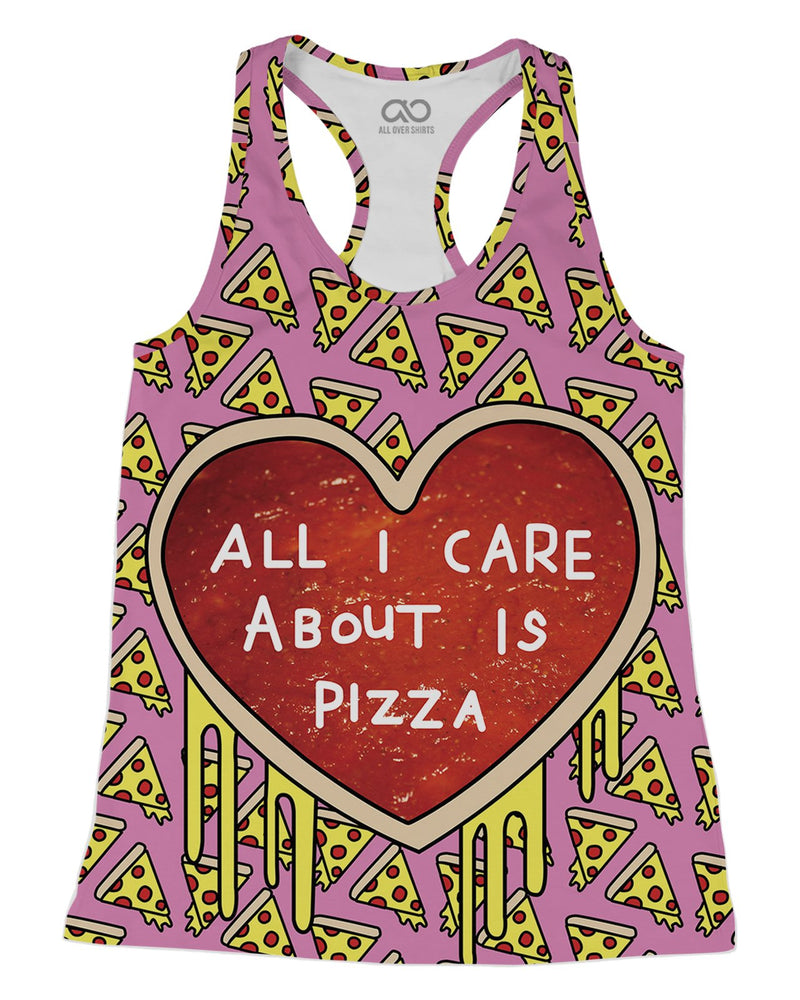 All I Care About Is Pizza printed all over in HD on premium fabric. Handmade in California.