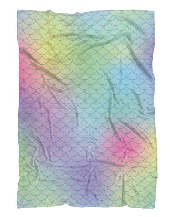 Big Rainbow Mermaid printed all over in HD on premium fabric. Handmade in California.
