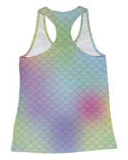 Big Rainbow Mermaid Racerback-Tank