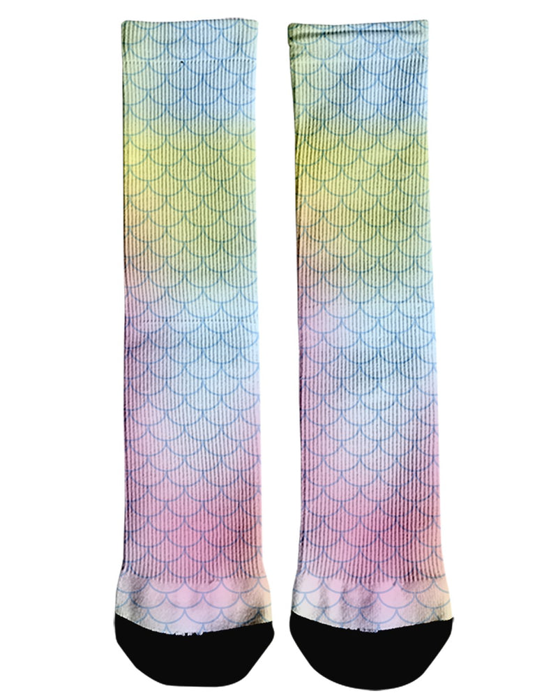 Bright Mermaid Scales printed all over in HD on premium fabric. Handmade in California.