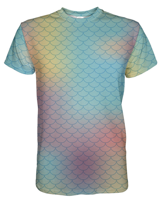 Pastel Mermaid Scales T-shirt