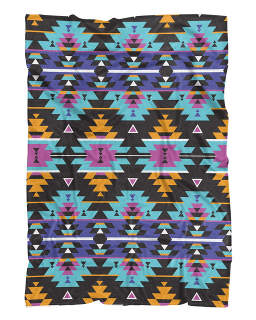 Colorful Tribal Fluffy Blanket