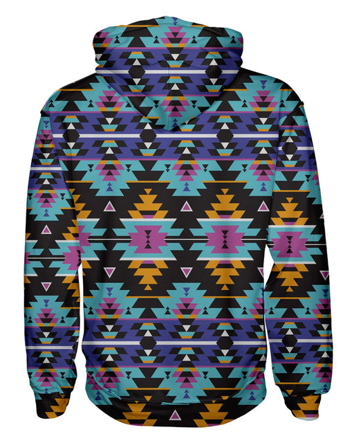 Colorful Tribal Pullover Hoodie