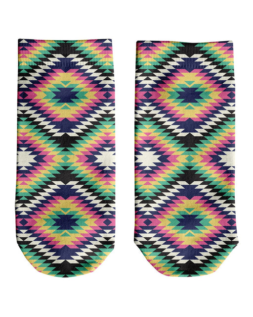 Geometric Tribal Ankle Socks