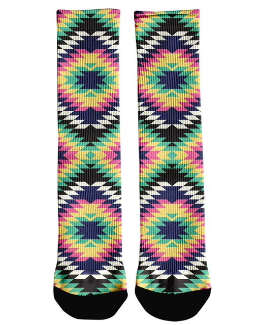 Geometric Tribal Crew Socks