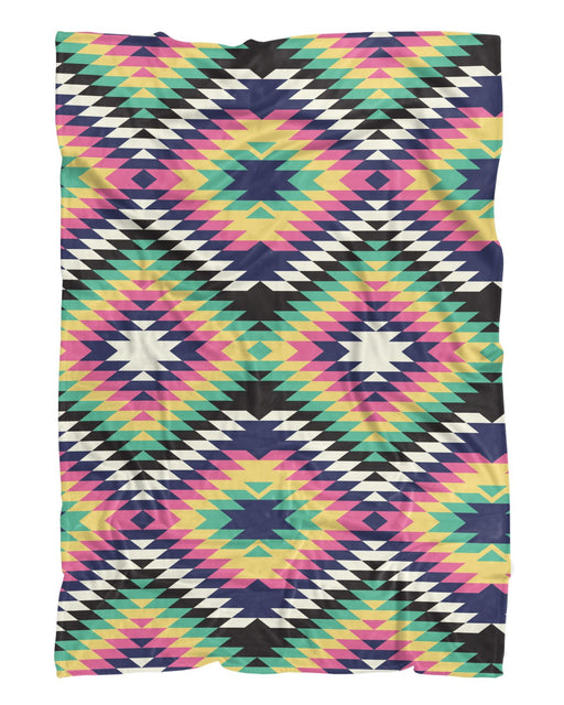 Geometric Tribal Fluffy Blanket