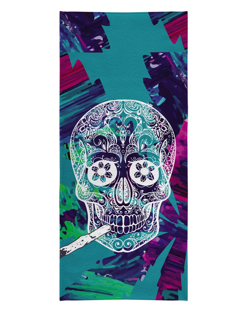 Skull and Joint Beach Towel