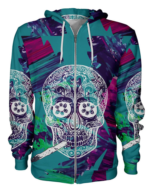 Skull and Joint Zip Hoodie