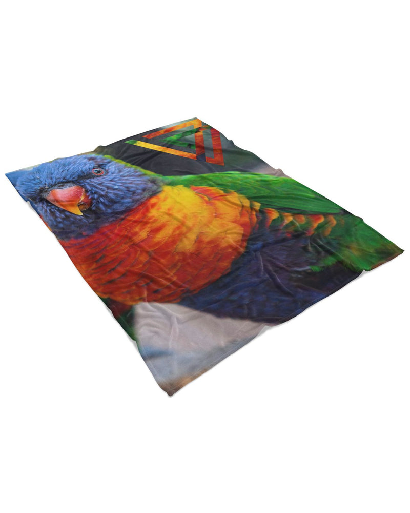 Bright Birdie Fluffy Micro Fleece Throw Blanket