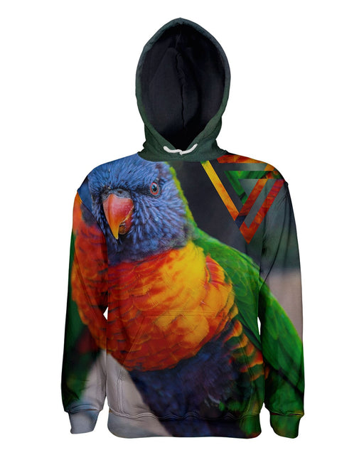 Bright Birdie printed all over in HD on premium fabric. Handmade in California.