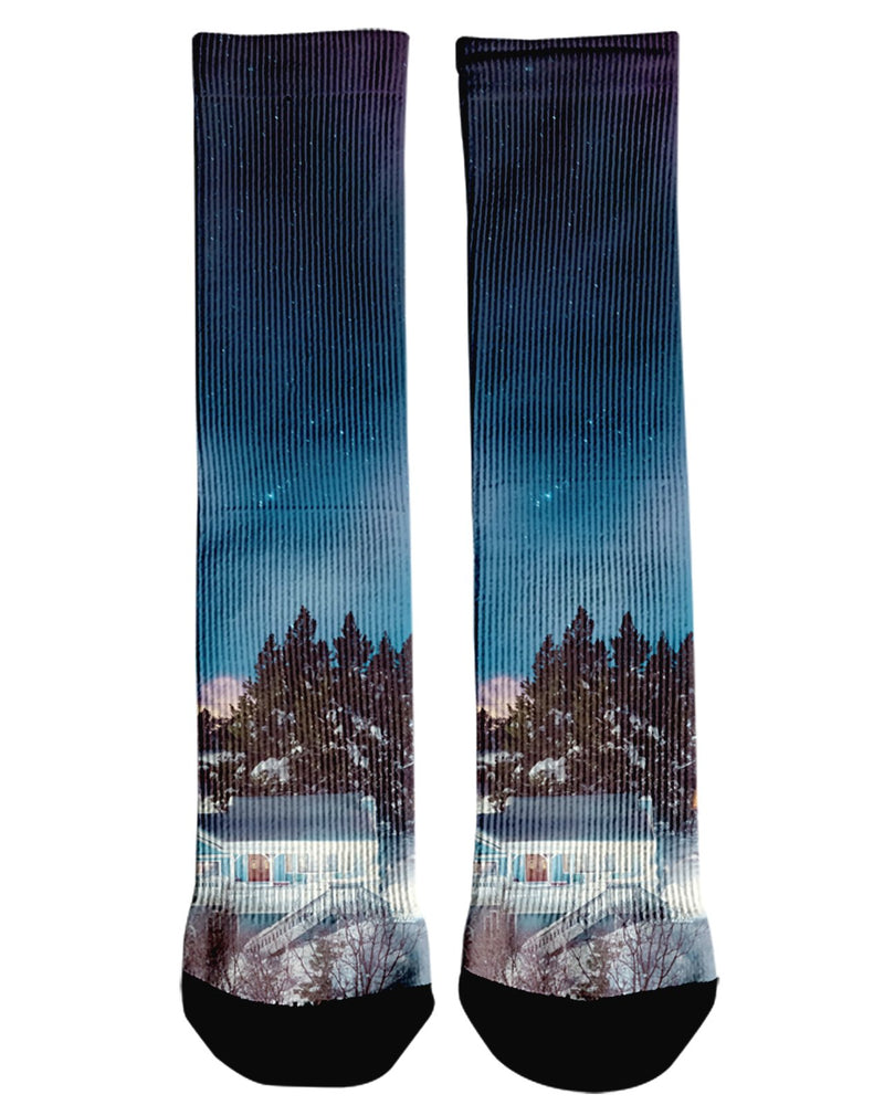 Big Bear Nights printed all over in HD on premium fabric. Handmade in California.