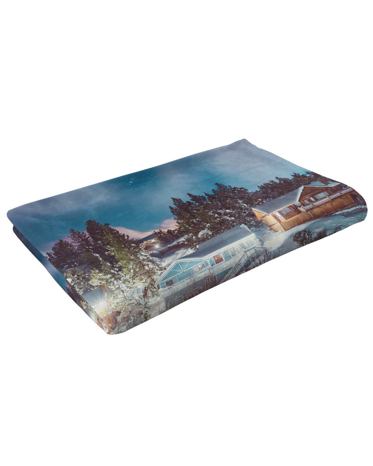 Big Bear Nights Fluffy Micro Fleece Throw Blanket