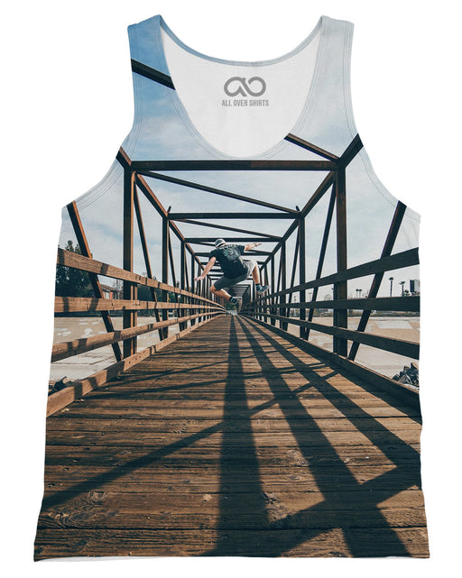 Infinity Jump printed all over in HD on premium fabric. Handmade in California.