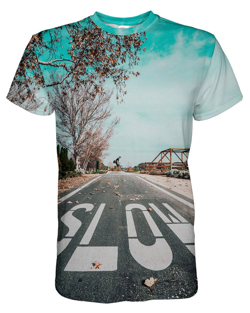 Slow Jump printed all over in HD on premium fabric. Handmade in California.