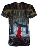 Newport Pier Yoga T-shirt