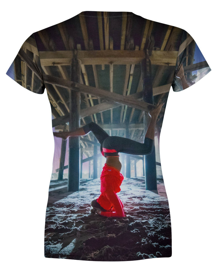 Newport Pier Yoga Women's T-shirt