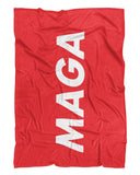 MAGA Fluffy Micro Fleece Throw Blanket