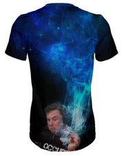 Elon Musk Smoking Blue T-shirt