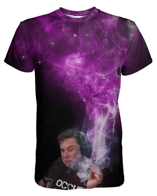 Elon Musk Smoking Pink printed all over in HD on premium fabric. Handmade in California.