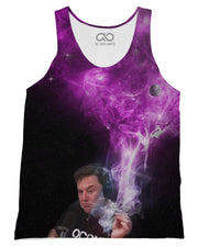 Elon Musk Smoking Pink Tank-Top