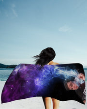 Elon Musk Smoking Galaxy Beach Towel
