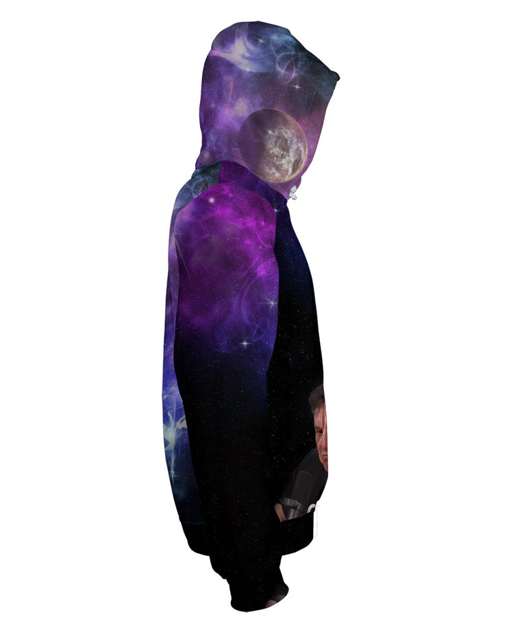 Elon Musk Smoking Galaxy Zip Hoodie