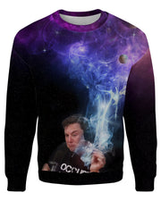 Elon Musk Smoking Galaxy Sweatshirt
