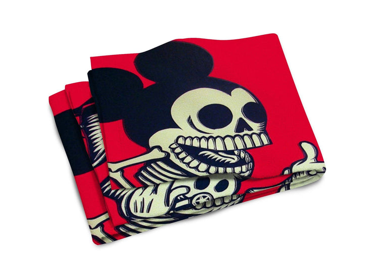Skeleton Mickey Beach Towel