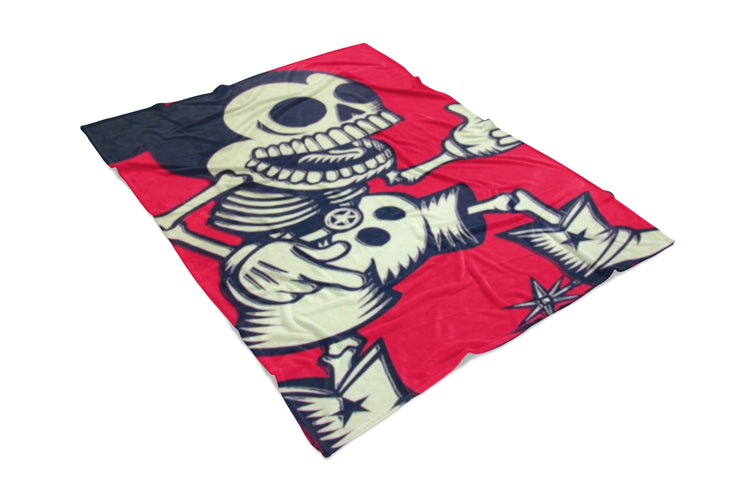 Skeleton Mickey Fluffy Micro Fleece Throw Blanket